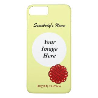 Cinta Tmpl de la flor de Borgoña de Kenneth Funda iPhone 7 Plus