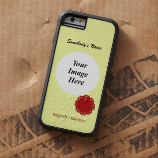 Cinta Tmpl de la flor de Borgoña de Kenneth Funda Tough Xtreme iPhone 6