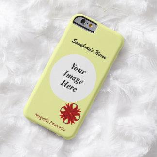 Cinta Tmpl del trébol de Borgoña de Kenneth Funda Barely There iPhone 6