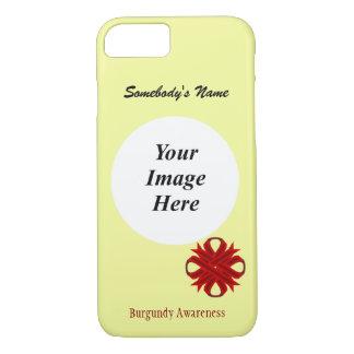 Cinta Tmpl del trébol de Borgoña de Kenneth Funda iPhone 7