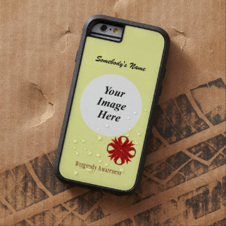 Cinta Tmpl del trébol de Borgoña de Kenneth Funda Tough Xtreme iPhone 6