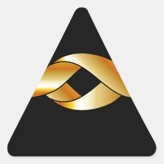 Cinta torcida pegatina triangular