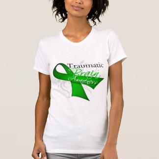 Cinta traumática de la conciencia de la lesión cer camiseta