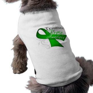 Cinta traumática de la conciencia de la lesión cer camisetas de perro