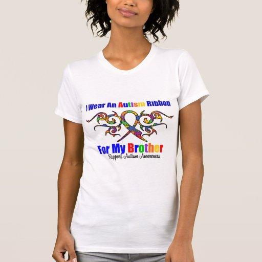 Cinta tribal Brother del autismo Camisetas