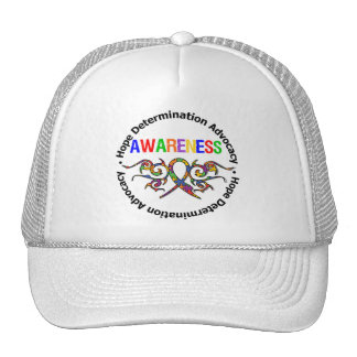Cinta tribal de la conciencia del autismo gorras