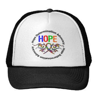 Cinta tribal de la esperanza del autismo gorras