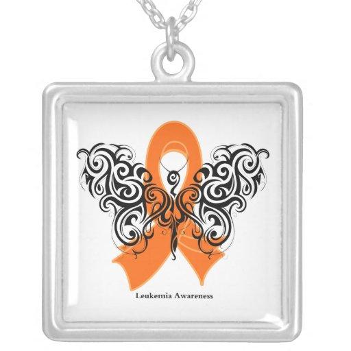 Cinta tribal de la mariposa de la leucemia colgante cuadrado