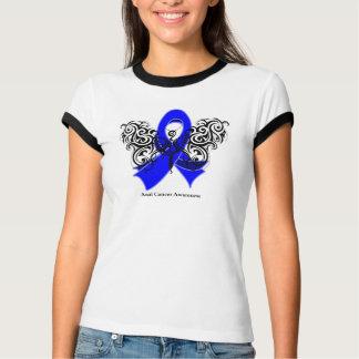 Cinta tribal de la mariposa del cáncer anal remera