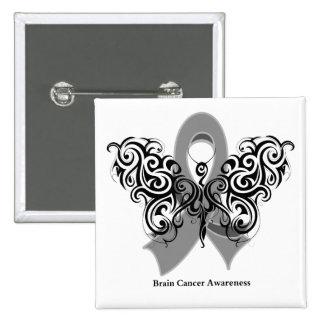 Cinta tribal de la mariposa del cáncer de cerebro pin