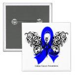Cinta tribal de la mariposa del cáncer de colon pins