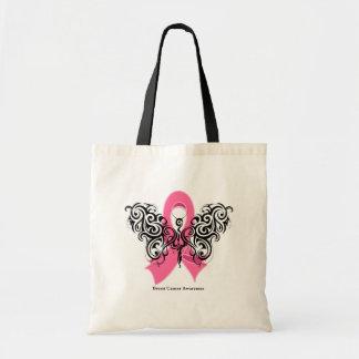 Cinta tribal de la mariposa del cáncer de pecho bolsa