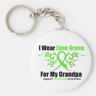 Cinta tribal del linfoma para mi abuelo llavero personalizado