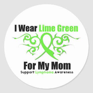 Cinta tribal del linfoma para mi mamá pegatina redonda