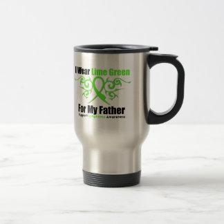 Cinta tribal del linfoma para mi padre tazas de café