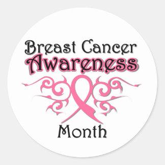 Cinta tribal del mes de la conciencia del cáncer pegatina redonda