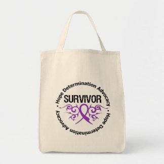 Cinta tribal del superviviente de Leiomyosarcoma Bolsas De Mano