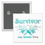 Cinta tribal del superviviente del cáncer de cuell pin