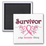 Cinta tribal del superviviente del cáncer de pecho imán para frigorifico