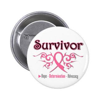 Cinta tribal del superviviente del cáncer de pecho pin