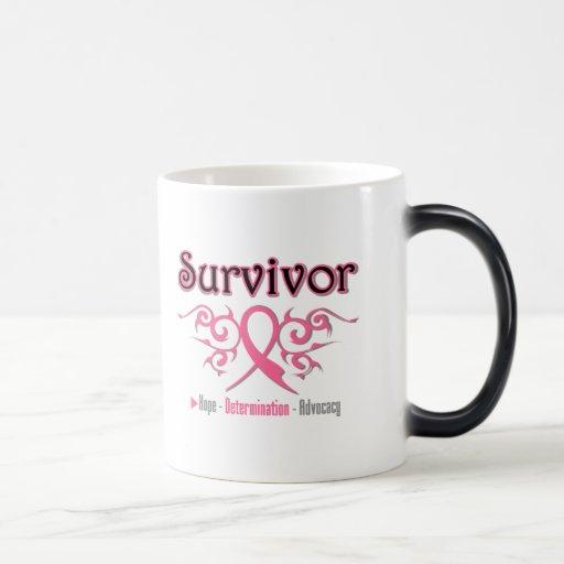 Cinta tribal del superviviente del cáncer de pecho taza de café