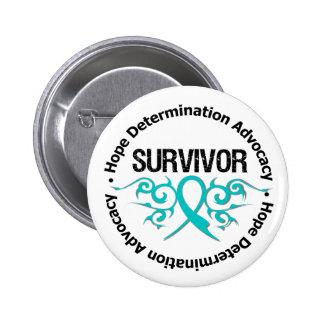 Cinta tribal del superviviente del cáncer ovárico pin