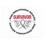 Cinta tribal del superviviente del tumor cerebral tarjetas postales