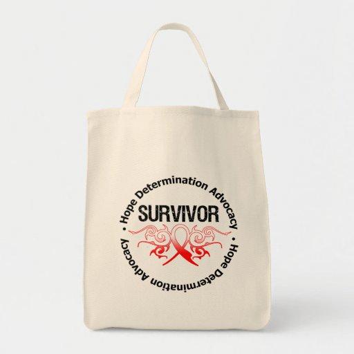 Cinta tribal del superviviente oral del cáncer bolsa de mano