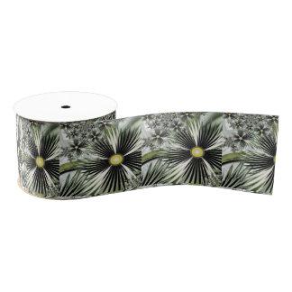 "Cinta tropical 3"" del regalo grogrén lazo de tela gruesa"