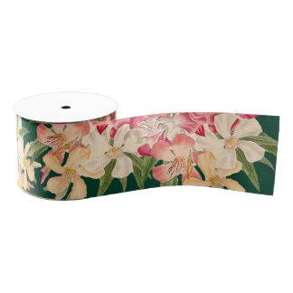 Cinta tropical de las flores florales del Oleander Lazo De Tela Gruesa