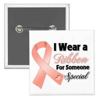 Cinta uterina del cáncer alguien especial pin cuadrado