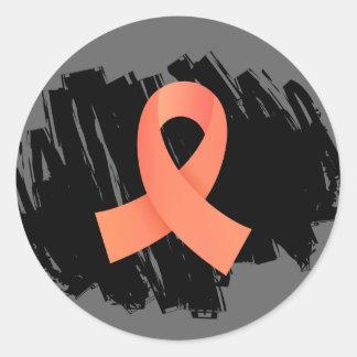 Cinta uterina del melocotón del cáncer con pegatina redonda