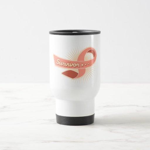 Cinta uterina del superviviente del cáncer taza de café