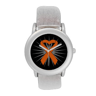 Cinta v2.png del corazón del cáncer de piel relojes de pulsera
