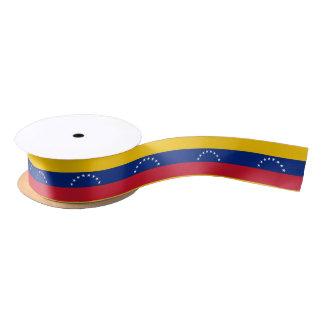 Cinta venezolana de la bandera lazo de raso