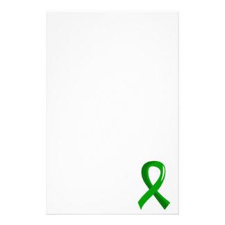 Cinta verde 3 de la donación de órganos papelería