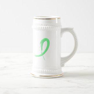 Cinta verde clara A4 de la enfermedad celiaca Jarra De Cerveza