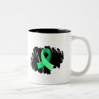 Cinta verde clara de la enfermedad celiaca con gar taza dos tonos