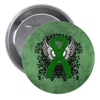 Cinta verde con las alas pin