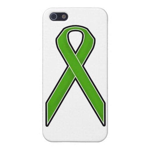 Cinta verde de la conciencia iPhone 5 funda