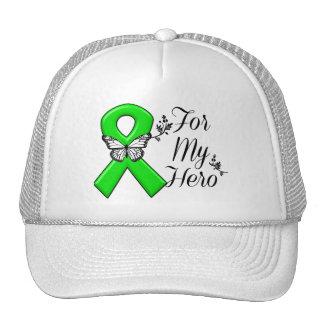 Cinta verde de la conciencia para mi héroe gorra