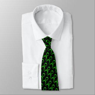 Cinta verde del cáncer de hígado del cáncer el | corbatas