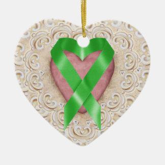 Cinta verde del corazón - SENIOR del cáncer del Ornatos