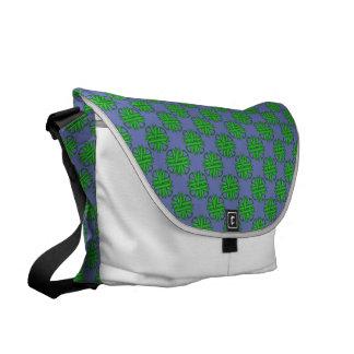 Cinta verde del trébol bolsa de mensajería