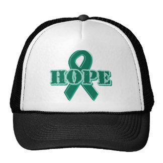 Cinta verde - esperanza gorras