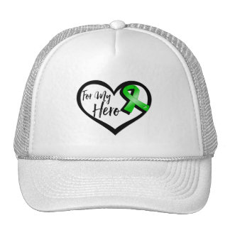 Cinta verde para mi héroe gorras