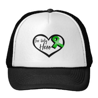 Cinta verde para mi héroe gorras de camionero