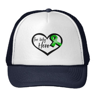 Cinta verde para mi héroe gorros bordados