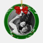 Cinta verde roja 1r Christma del acebo del ornamen Ornamento De Reyes Magos