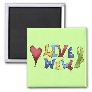 Cinta verde Well- viva Iman Para Frigorífico